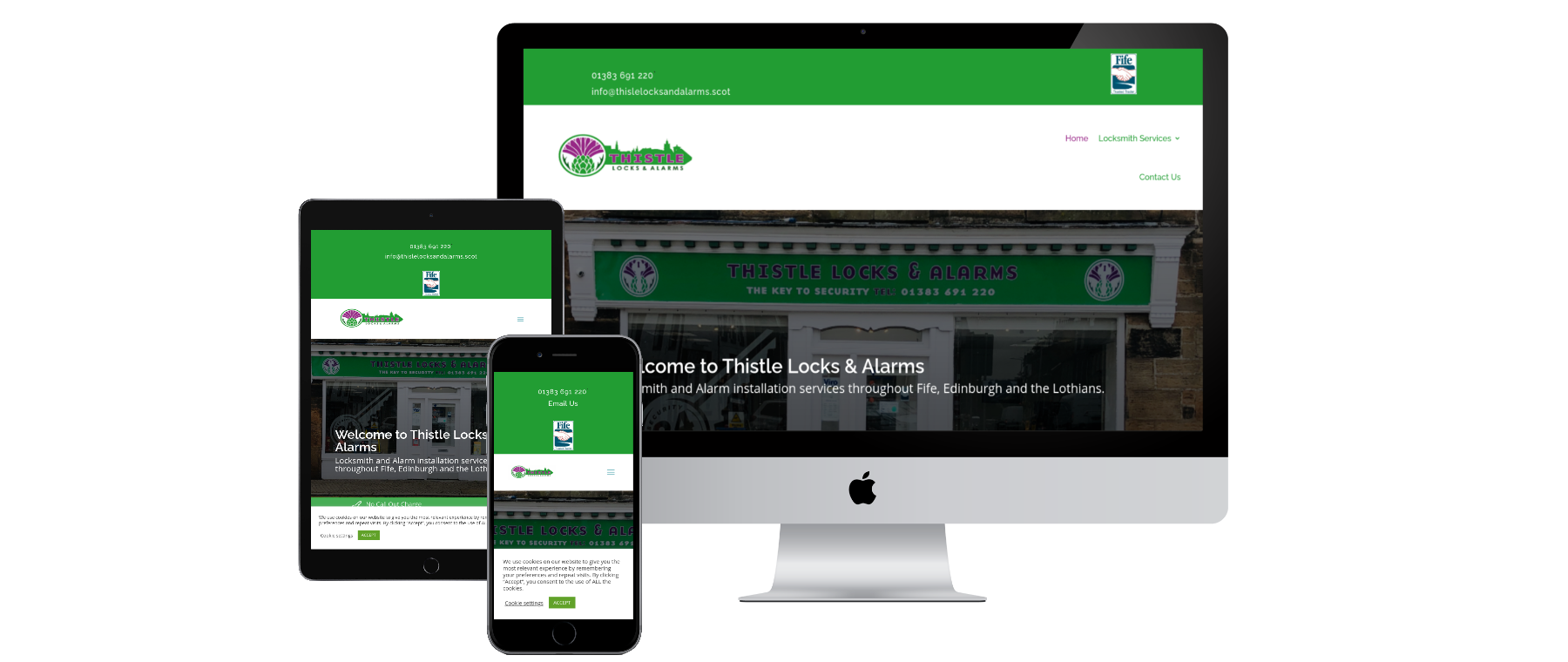 Thistle Locks and Alarms - Website Design by Alba Digital Solutions